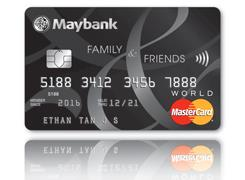[Maybank ATM] Get rewarded with 8% cash rebates on daily essentials in Singapore and Malaysia with our Maybank Family & Friends Card.