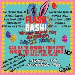 [The Little Gym] The Flash Bash is a 2-hour, themed party designed to give both children and parents an awesome weekend!