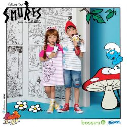 [Bossini Singapore] No Monday blues with smurfs.