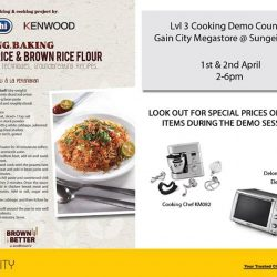 [Gain City] Look out for Chef Shafiq who will be making an appearance at the lvl 3 Cooking Demo Counter at the