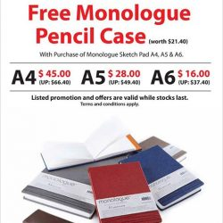 [NBC Stationery and Gifts] Promotion : Free Monologue Pencil Case(worth $21.