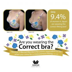 [Wacoal] Did you know that most women are wearing bras that don't really fit?