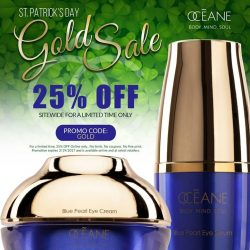 [OCEANE] Feel the 'Luck of the Irish' and take 25% Off sitewide with our St.