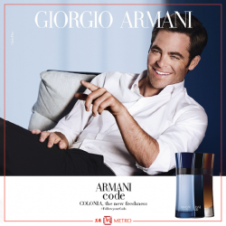 [Metro] Offering a combination of citrus with middle notes of clary sage, the new fresh aromatic version of the Armani Code,