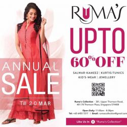 [Ruma's Collection] Our  ANNUAL SALE  has  been  EXTENDED TILL  MONDAY  20th  March !