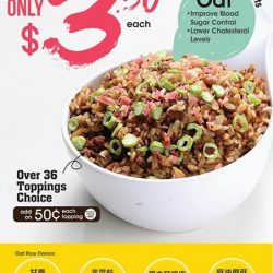 [QQ Rise] Enjoy our flavored Oat Rice at only $3 (or $3.