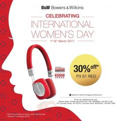 [B&W Bowers & Wilkins] Enjoy our exclusive deal 30% to bring the Red B&W P3 S1 to your women.