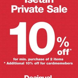 [Isetan] Enjoy 10% off Desigual Kids with min purchase of 2 items and additional 10% off for cardmembers.