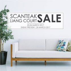 [Scanteak] Join us this weekend at our Liang Court showroom and atrium for awesome deals!