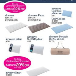 [Isetan] Get these special deals by Airweave for a good night rest at our Isetan Private Sale.