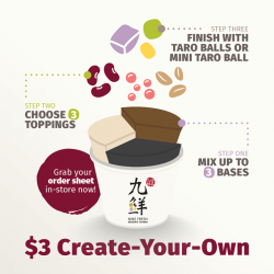 [Nine Fresh Desserts Taiwan] Our latest promotion comes with a not-so-secret ingredient: Creativity.
