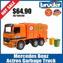 [The Collector] School Holiday Promotion @ The Collector Bruder 01667 MB Actros Garbage TruckEnjoy 20% off all regular priced Bruder items.