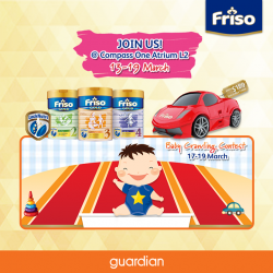 [Guardian] Redeem a FREE Powered Kids Luggage^ and a remote control car when you spend $289 at the Friso Roadshow happening @