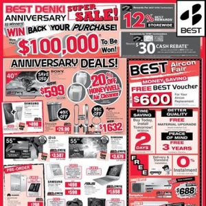 [Best Denki] Win back your purchase in our Best Denki Anniversary Super Sale!