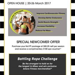 [Amore Fitness] Try your fitness level with our battling rope challenge!