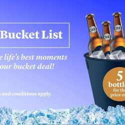 [Harry's Bar] Bottoms up with our bucket promotion today!