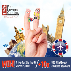 [Pet Lovers Centre Singapore] WIN a trip for 2 to the UK!