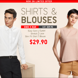 [Uniqlo Singapore] Dress-down Fridays have never been easier.