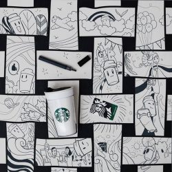 [Starbucks Singapore] Sip some coffee, make some art.