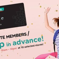 Watsons: Members' Only 1 Day Sale for Elite Members with Hot Buys to Up to 50% OFF & 6% Cash Rebate with POSB Everyday Card!