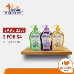 [Guardian] Save 33% and get Guardian FreshClean Gel Hand Wash (500ml) at a special price of 2 for $4 (U.