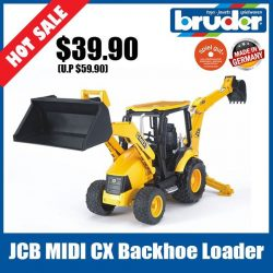 [The Collector] School Holiday Promotion @ The Collector Bruder 02427 JCB Midi CX Backhoe LoaderThe 50HP backhoe loader with a speed of