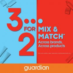 [VivoCity] Enjoy super savings at Guardian by picking any 3 items across participating brands and pay for just 2* of them!