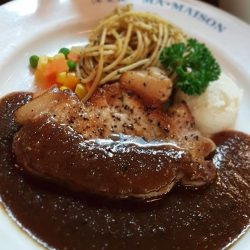 [Ma Maison Restaurant Singapore] Today's Daily Lunch at Ma Maison at Bugis Junction isPork Steak with Black Pepper Sauceポークステーキ・ブラックペッパーソースComes with Soup,