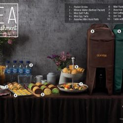 [Polar Puffs & Cakes Singapore] Our tea reception services allow you a hassle free event set-up.
