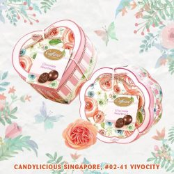 [Candylicious] Let's welcome March with Caffarel new spring/summer heart shaped and flower box.