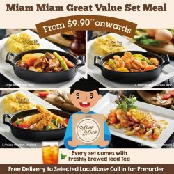 [Miam Miam French.Japanese Cafe.Kitchen] Enjoy Great Value Set Meal from $9.