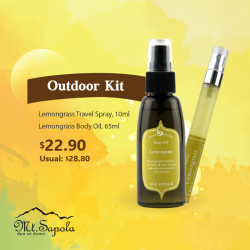 [Mt. Sapola] This Outdoor Kit is a 2-product combo to help protect yourself from Dengue mosquitoes.