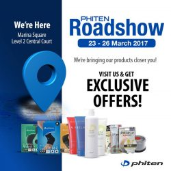 [Phiten Shop] Visit our Marina Square Roadshow & GET Exclusive offers
