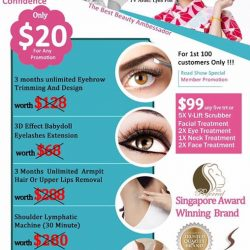 [THE BEST BEAUTY CENTRE] Purchase 1 of the following @ S$20 or Purchase all 5 @ special rate S$99.
