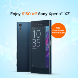 [M1] From now till 19 March, enjoy $150 off Sony Xperia XZ when you sign up or re-contract on selected