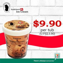 [7-Eleven Singapore] Get away from the heat with some ice cream from Andersen's of Denmark Ice-Cream Singapore.