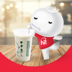 [Singtel] Enjoy a FREE cup of Jollibean Classic Soy Milk when you top up $20 & above to your Prepaid hi!