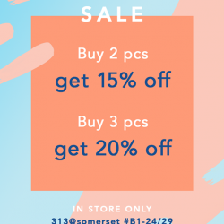 [Love, Bonito] We're having a sale at our 313@somerset pop up store!