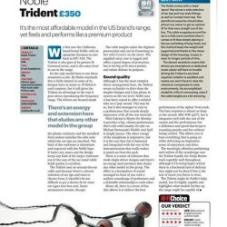 [Stereo] Noble Audio Trident has just been recognized as Hi-Fi Choice magazine's group test winner for earphones in its
