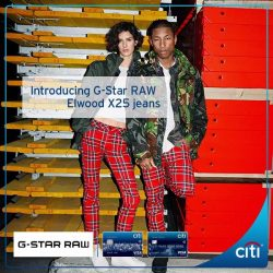[Citibank ATM] Introducing G-Star RAW Elwood X25 jeans curated by Pharrell Williams.