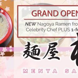 Menya Sakura: Grand Opening Special 1-for-1 Ramen!