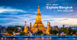 Singapore Airlines: Getaway to Bangkok from only SGD188!