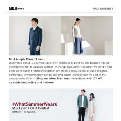 [Muji] MUJI Linen, What Summer Wears