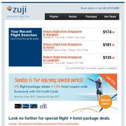 [Zuji] Final day for 5% off all destinations!
