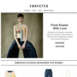 [Farfetch] 6 exclusive collections from Russia
