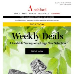 [Ashford] This Week's Deals End Today