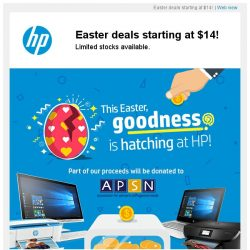 [HP Singapore]  Grab these HP Easter deals starting at $14