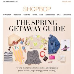 [Shopbop] How to pack for your next vacation