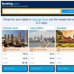 [Booking.com] Prices in George Town are the lowest we've seen in 3 days!