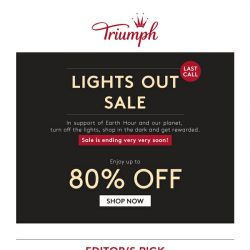 [Triumph] Last call – Up to 80% OFF